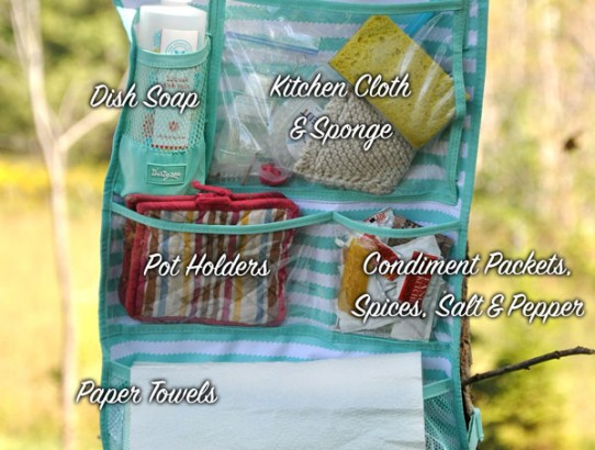 Camp Kitchen Organizer - #31uses - Hang-up Activity Organizer