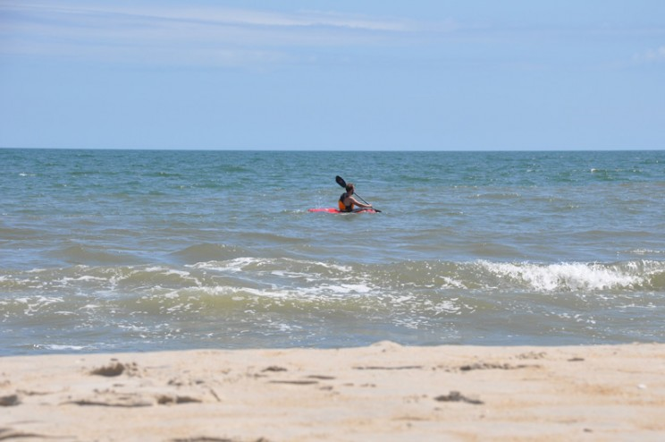 Whitewater Kayak in the Ocean - Assateague Island
